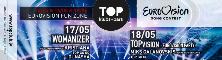 18.05 TOPvision (Eurovision Party) with Miks Galvanovskis at TOP